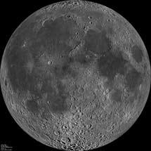 La Luna desde el espacio. | NASA/GFSC/Arizona St. Univ./ LRO