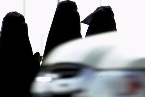 Varias mujeres saudíes, en Riad. | AP