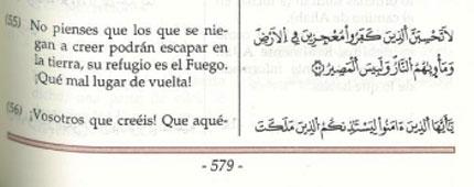 Corán en castellano donado por el Centro Cultural Islámico de Madrid.