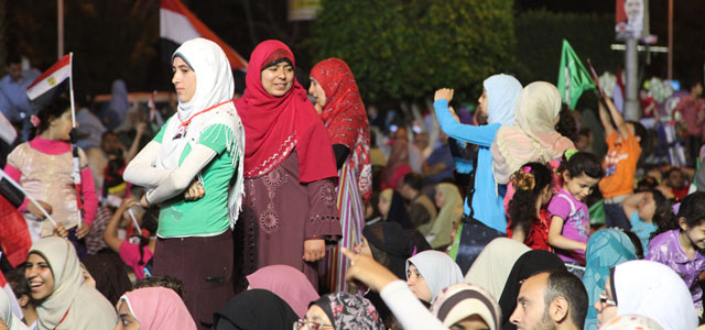 Un mitín de los Hermanos Musulmanes celebrado el sábado en El Cairo. | F. C.