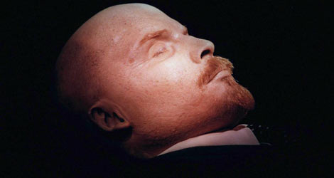 Cuerpo embalsamado de Lenin.