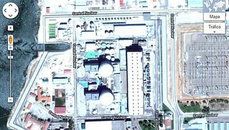 Central nuclear de Almaraz, en Cáceres. (Google Maps)