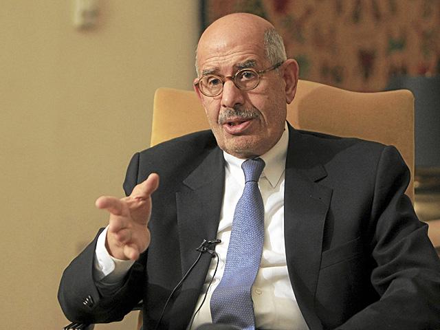 Mohamed El Baradei, en una entrevista en su casa de El Cairo. | Reuters