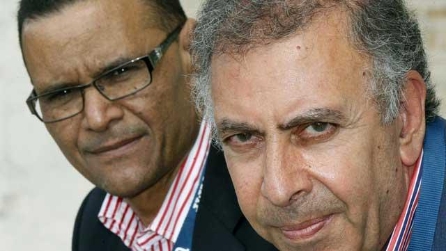 Al Sayed Soheim (i), de la embajada de Egipto y Waleed Saleh Alkhalifa, profesor de la Autónoma.| Efe