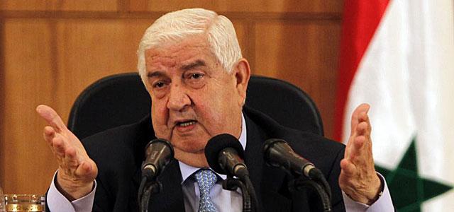 El ministro de Asuntos Exteriores sirio, Walid Muallem, en la rueda de prensa en Damasco. | Reuters