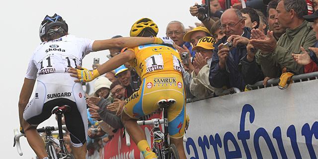 Schleck Contador Tourmalet