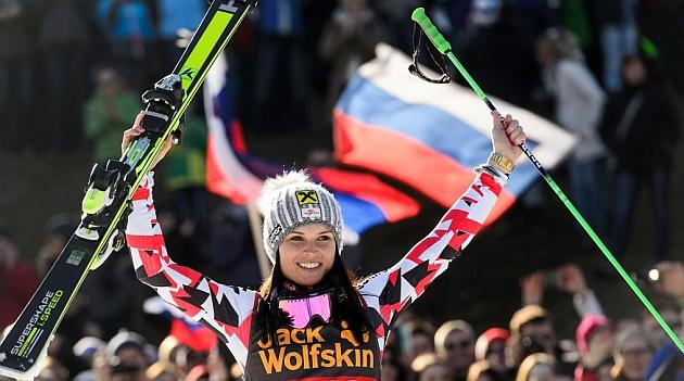 Anna Fenninger se adjudica<br /><br /><br /><br /><br /> el eslalon gigante de Maribor