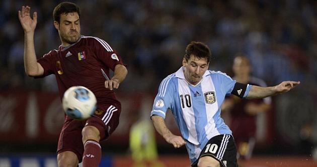 Túñez, en un partido con Venezuela contra Argentina. / Foto: Getty Images
