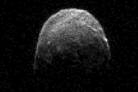 El asteroide '2005 YU55', que ha pasado cerca de La Tierra. | Efe