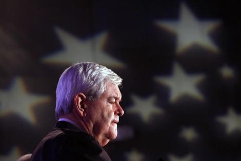 Gingrich, en un acto con veteranos de guerra en Iowa. | Reuters