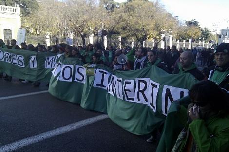 Manifestación de la comunidad educativa en Madrid. | #mareaverde