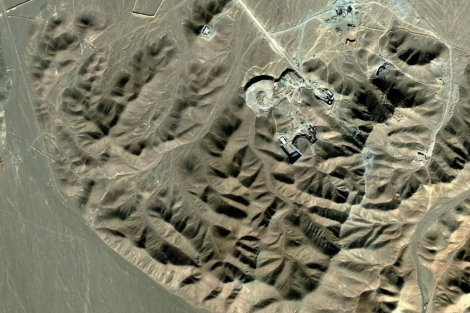 Planta de enriquecimiento de uranio de Fordo, cerca de Qom. | Efe