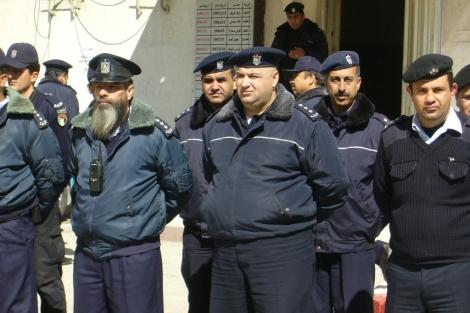 Policias palestinos en el norte de Cisjordania. | S.E.