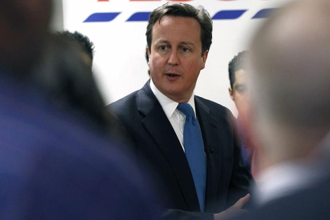 El primer ministro británico, David Cameron, en Londres.   Reuters