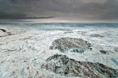 Hielo desprendido del glaciar Jakobshavn Isbrae. | Ian Joughin/University of Washington