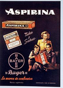 Cartel publicitario de Aspirina. | El Mundo