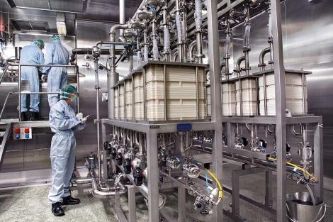 Interior de una planta de hemoderivados.| Grifols