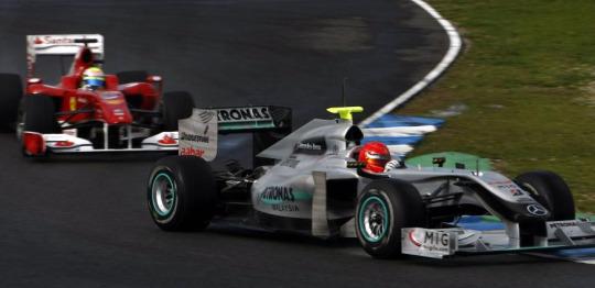 Schumacher y Massa
