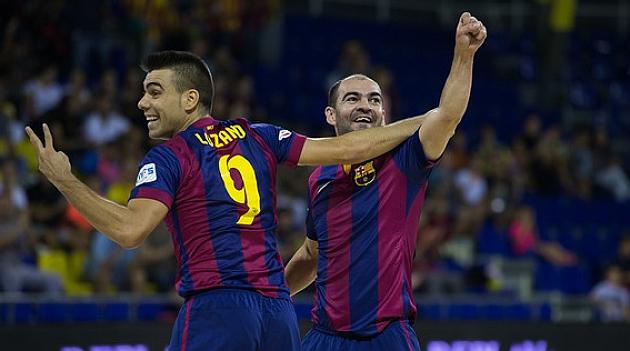 Manita del Barcelona para<br /><br /><br /><br /><br /><br /><br /> lograr su plaza en la Final Four