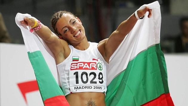 Ivet Lalova, anterior mujer de raza blanca en bajar de los 11 segundos. Foto: José A. García