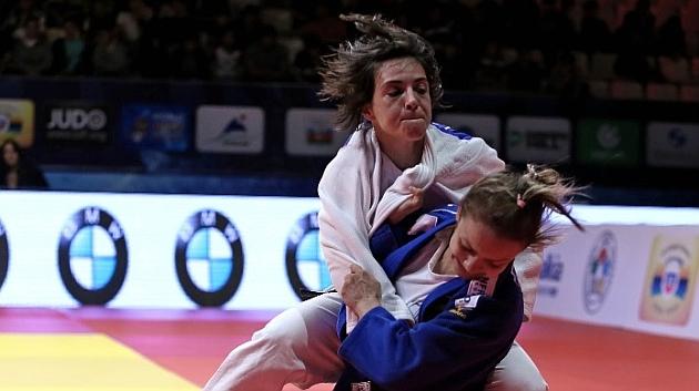Julia Figueroa, durante el combate.