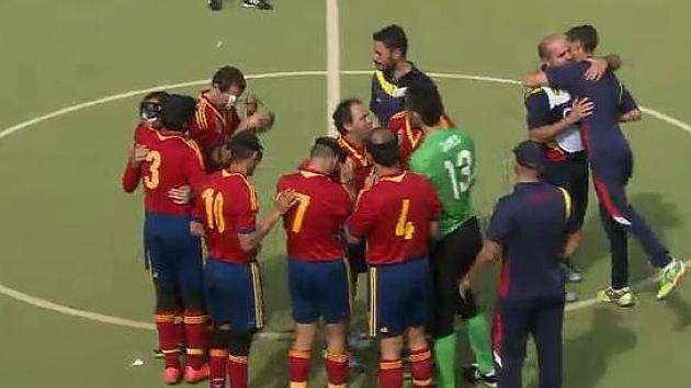 España se consuela con el bronce en el Europeo de fútbol para ciegos