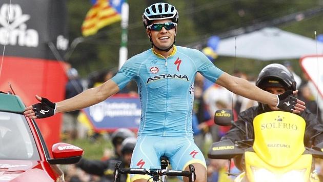 Mikel Landa en la Vuelta Ciclista a España.