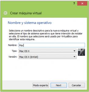 virtualizar mac osx, mac osx, virtual box, virtualizar apple,