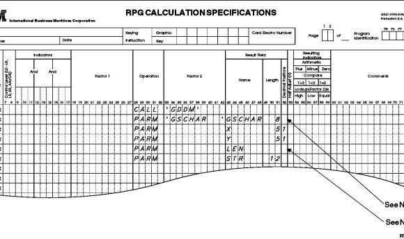 RPG calculation, Esta tuani RPG, RPG ILE