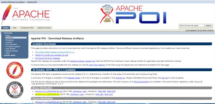 Exel en Java. Libreria Apache POI