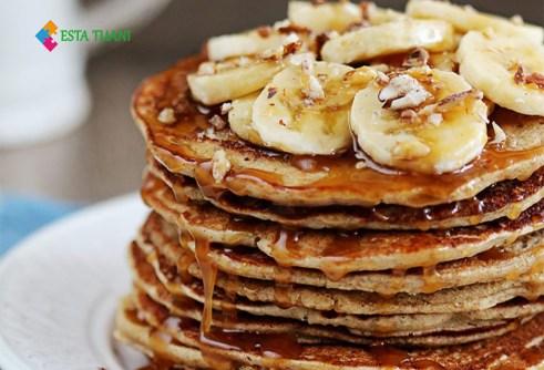 Desayunos saludables, pancakes de avena