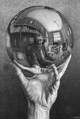 Mano con Esfera, de M. Escher