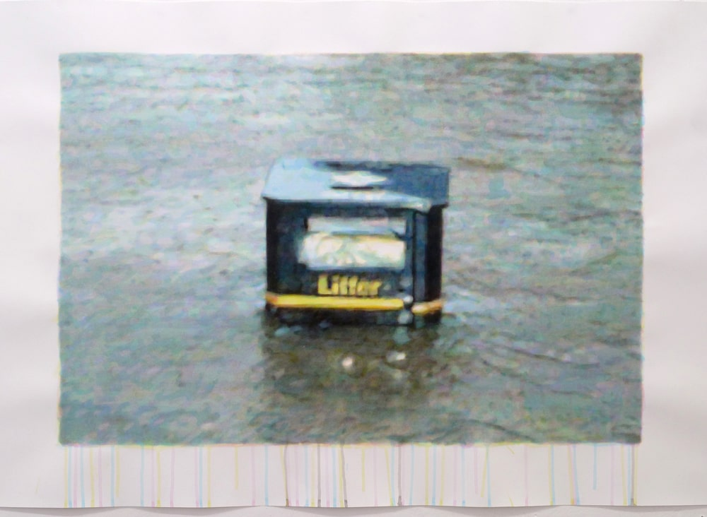 painting aguadas litter box esteban peña art