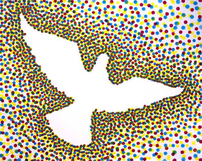 paint color dove peace esteban peña art