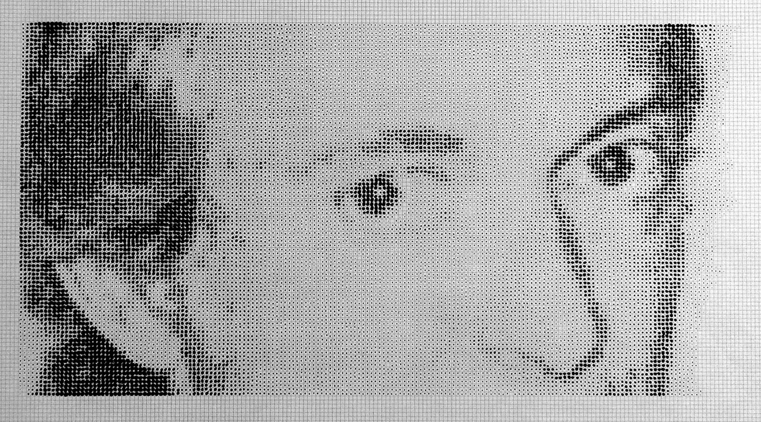 drawing dots ink lichtenstein esteban peña art