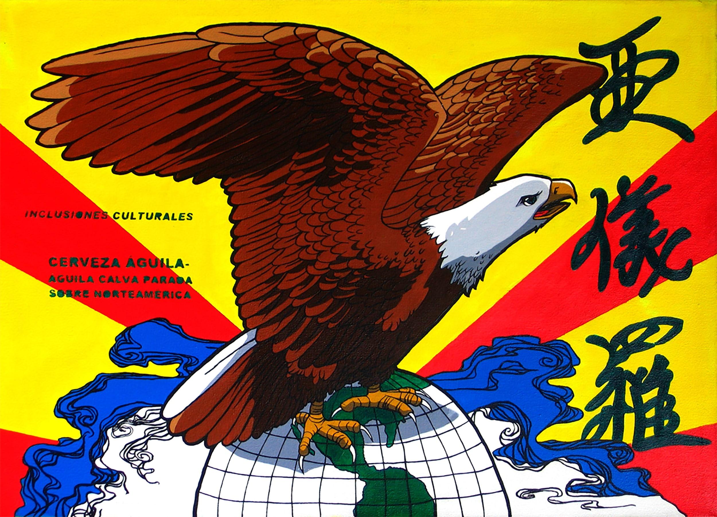 paint bald eagle esteban peña art
