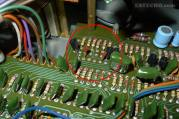 Faulty capacitors before replacement