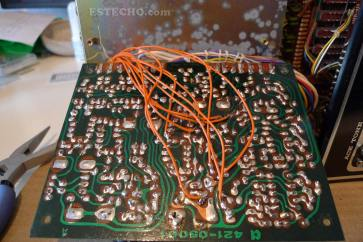 Voice board, after soldering all wires