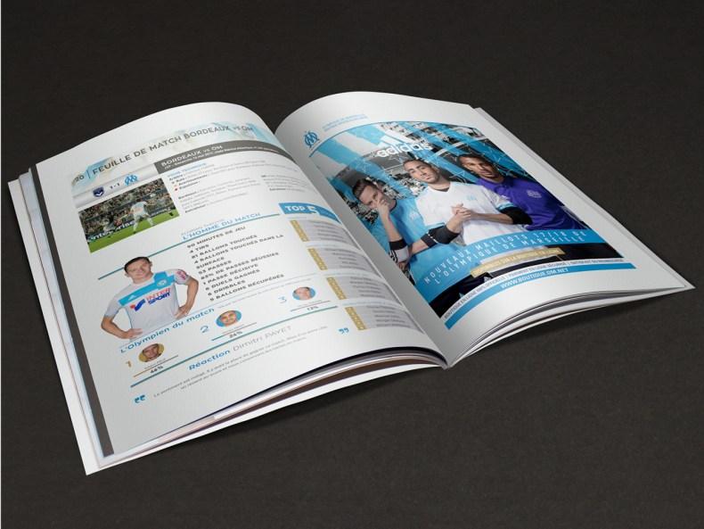Mise en page et redaction programme de match de l'OM