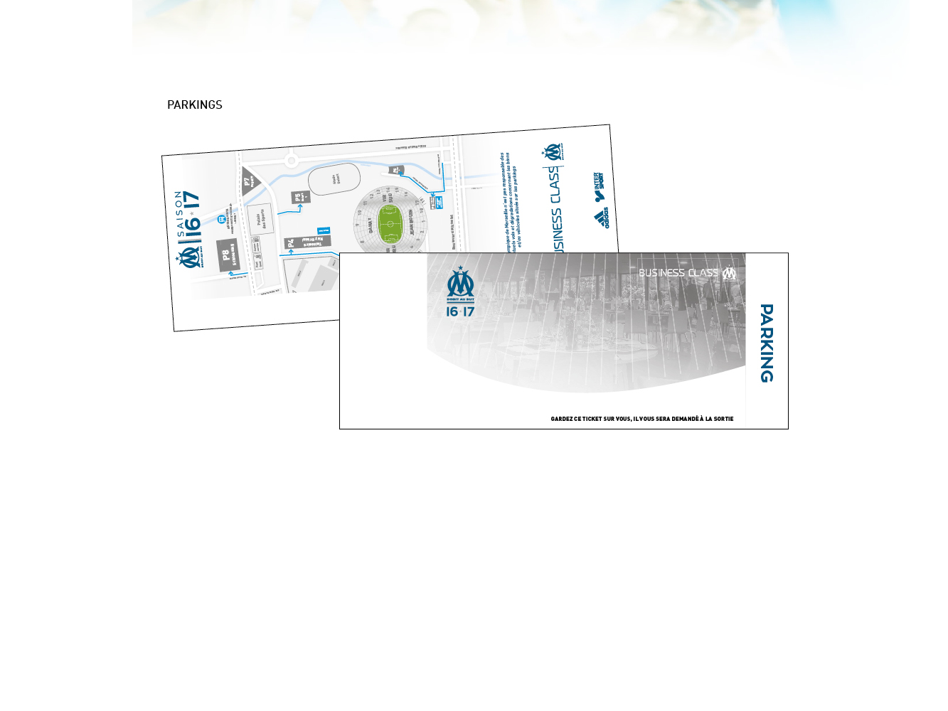 carton acces parking OM business class