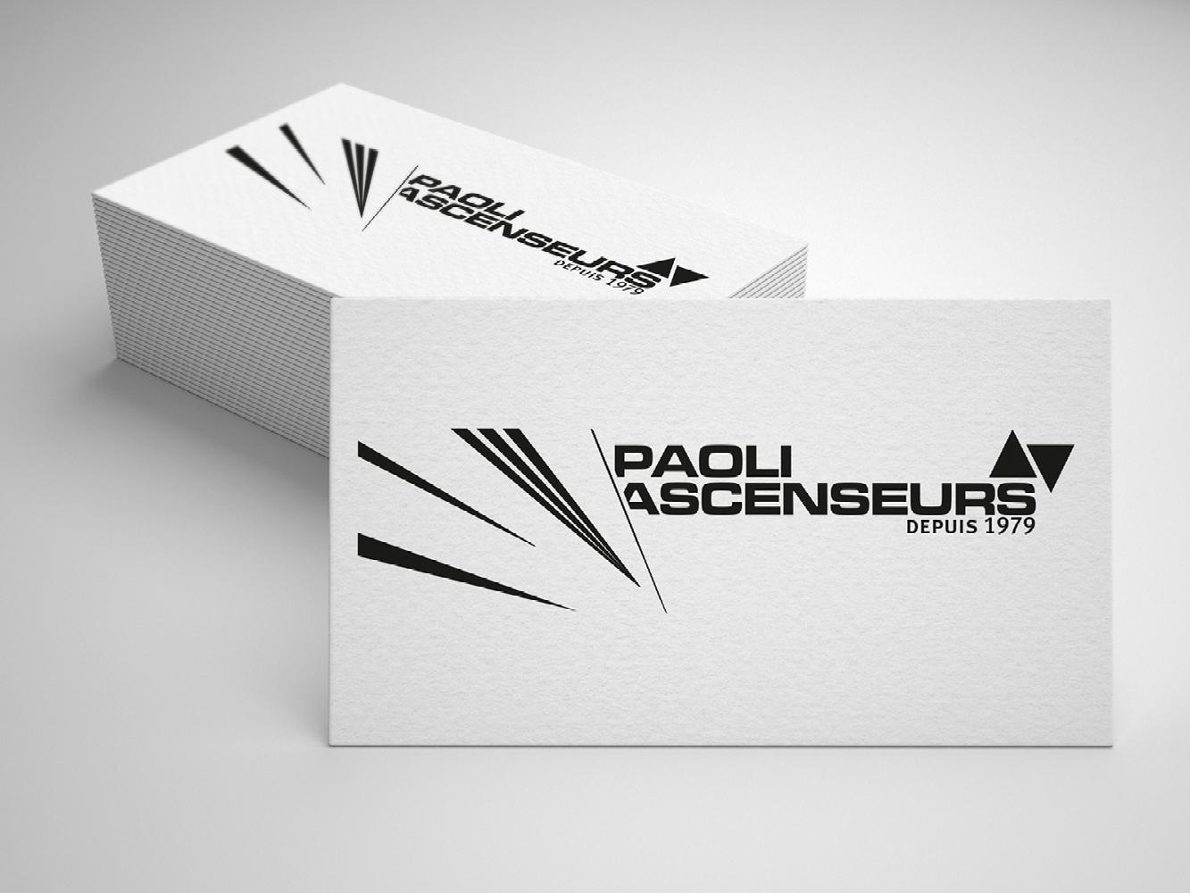 creation logo Paoli ascenseurs