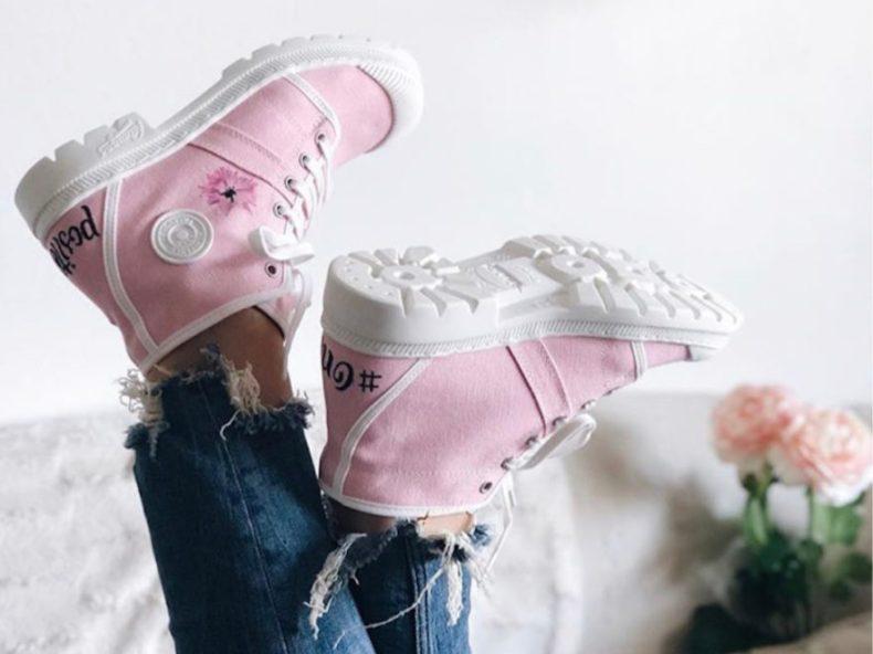 customisation chaussures pataugas #brunette blogueuse