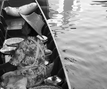 Bangkok, Thaïlande, marché flottant