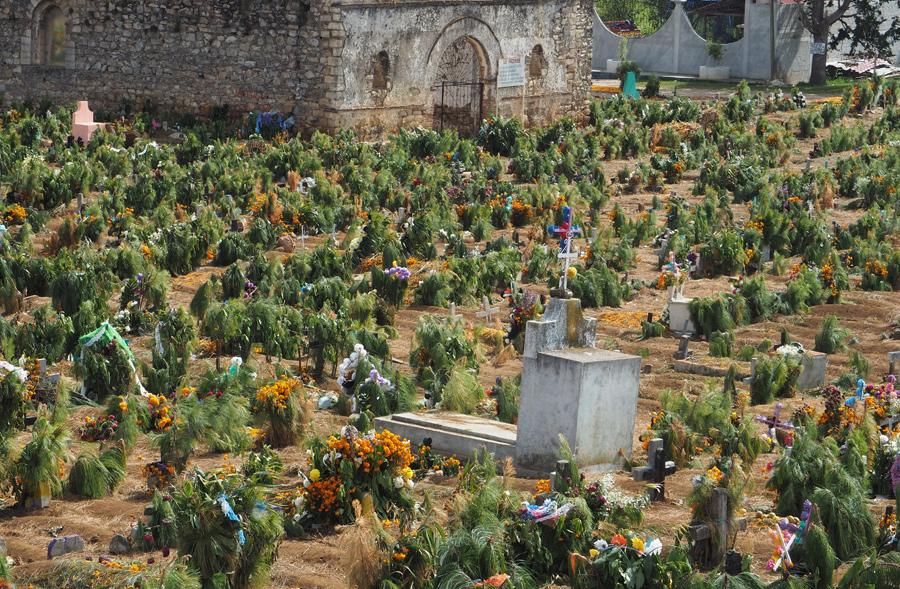 Le cimetière de San Juan Chamula