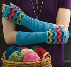 Graphic Multicolor Mitts by Cheryl Murray