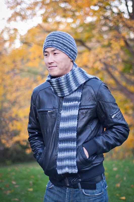 A2013 Men's Woodrow Hat and Scarf Set Main Image