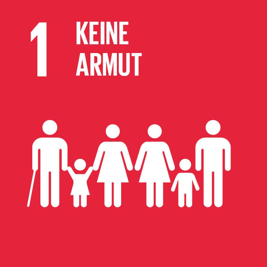 """Das Ziel 1 """"Keine Armut"""" ist wichtig für unsere Vision, Mission, Werte und Prinzipien."""