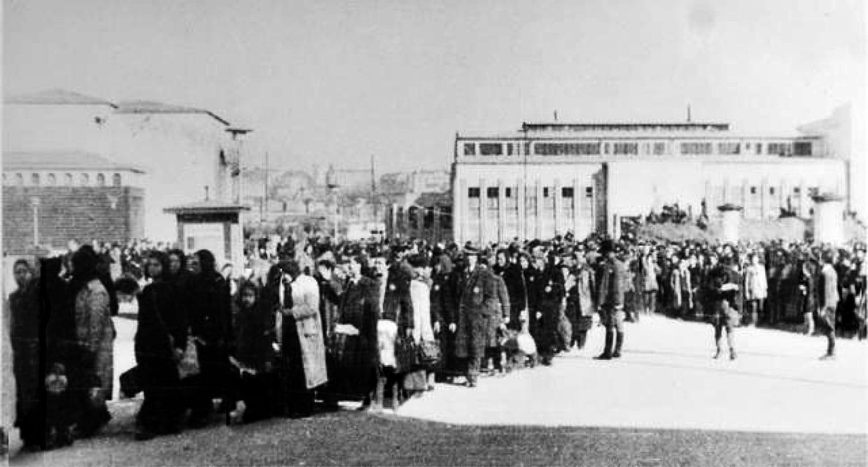 Долазак Јевреја у логор на Сајмиште