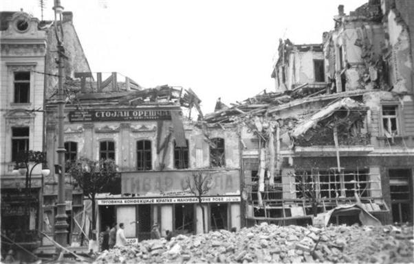 Terazije after the bombing