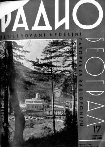 """Насловна страна """"Радио Београда"""" 26.04.1936."""